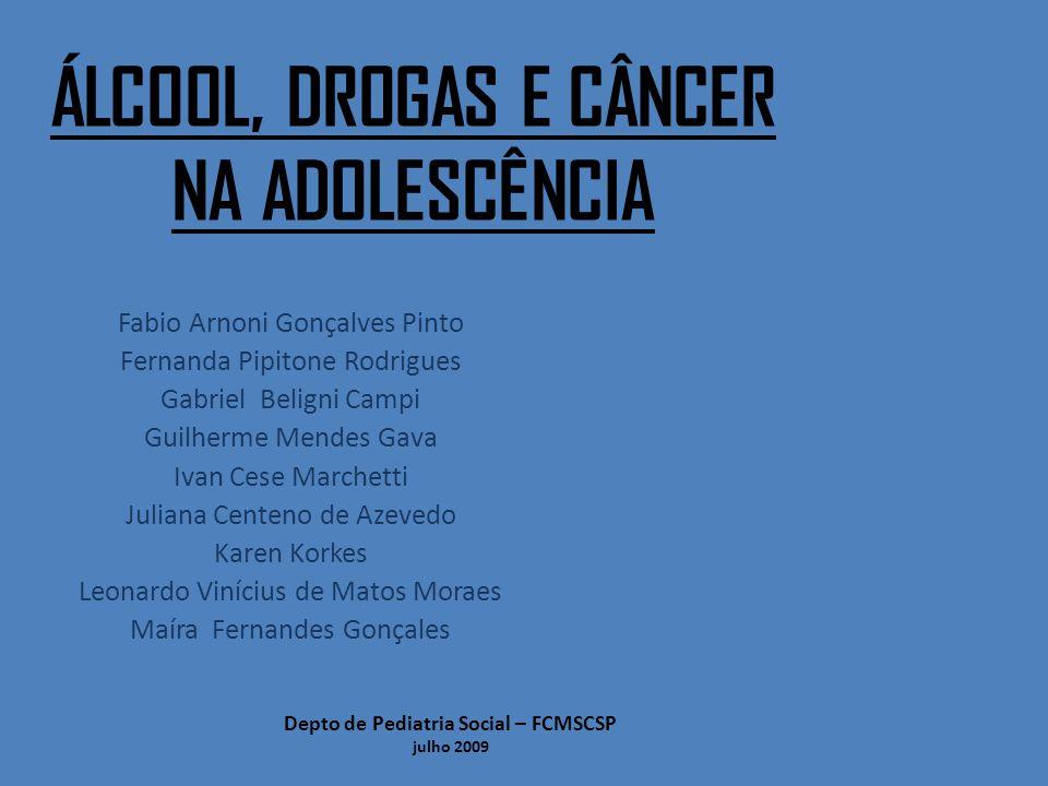 Álcool, drogas e câncer na adolescência