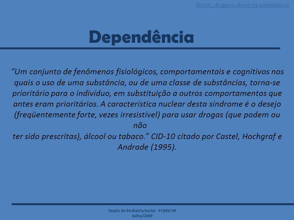 Dependência Um conjunto de fenômenos fisiológicos, comportamentais e cognitivos nos.
