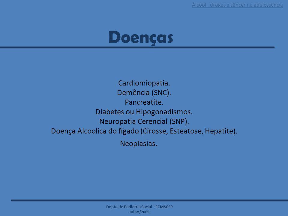 Doenças Cardiomiopatia. Demência (SNC). Pancreatite.