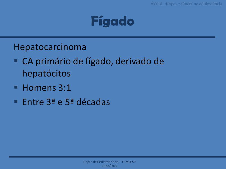 Fígado Hepatocarcinoma CA primário de fígado, derivado de hepatócitos