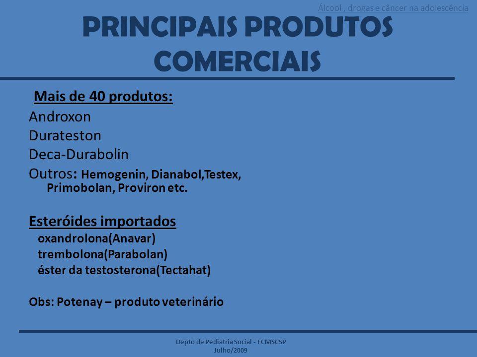 PRINCIPAIS PRODUTOS COMERCIAIS