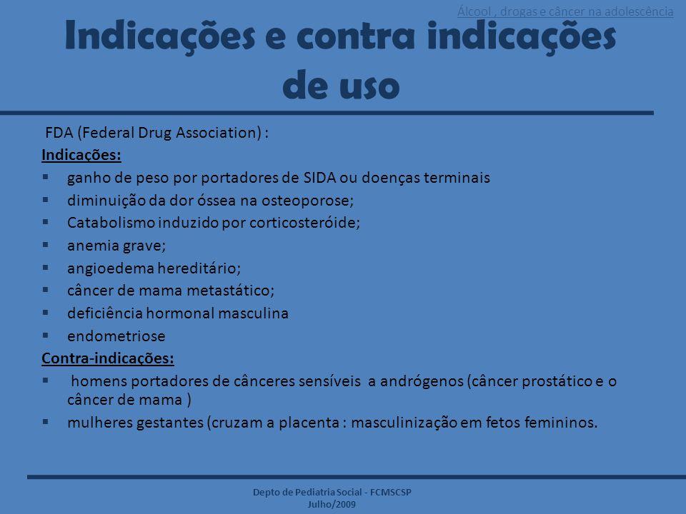 Indicações e contra indicações de uso