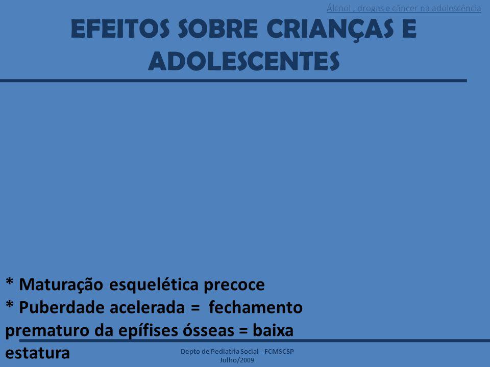 EFEITOS SOBRE CRIANÇAS E ADOLESCENTES