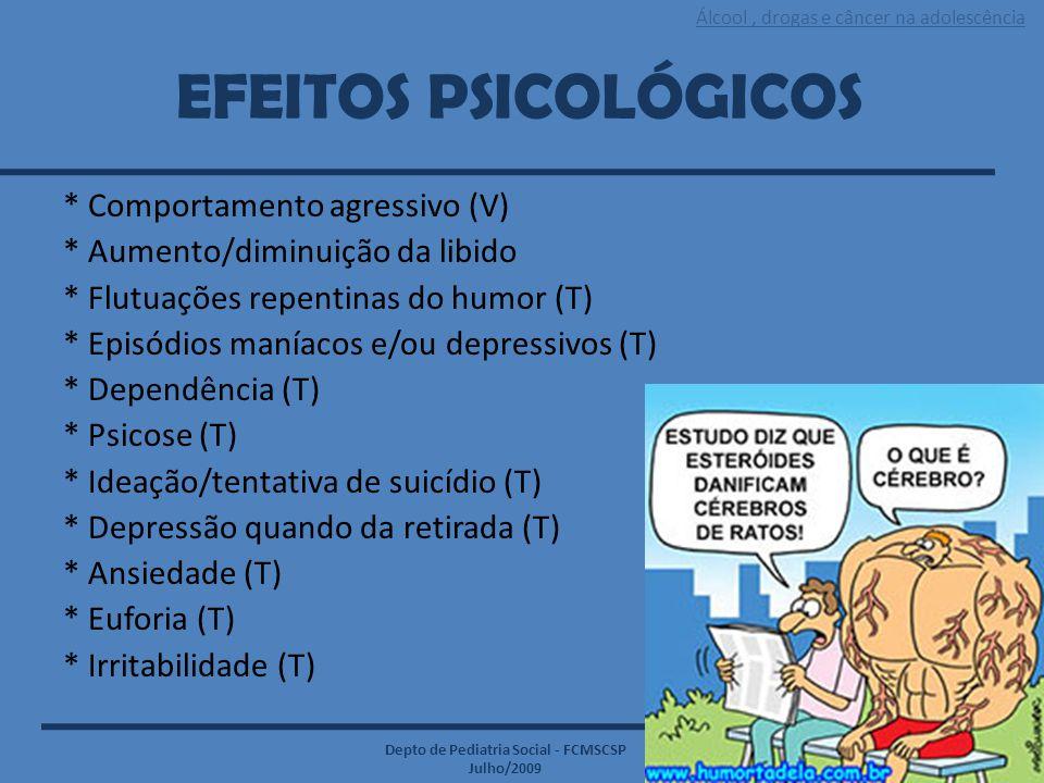 EFEITOS PSICOLÓGICOS * Comportamento agressivo (V)