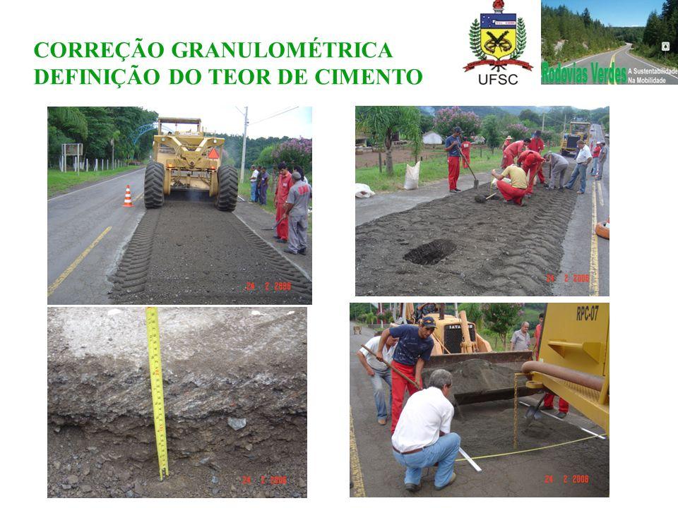 CORREÇÃO GRANULOMÉTRICA