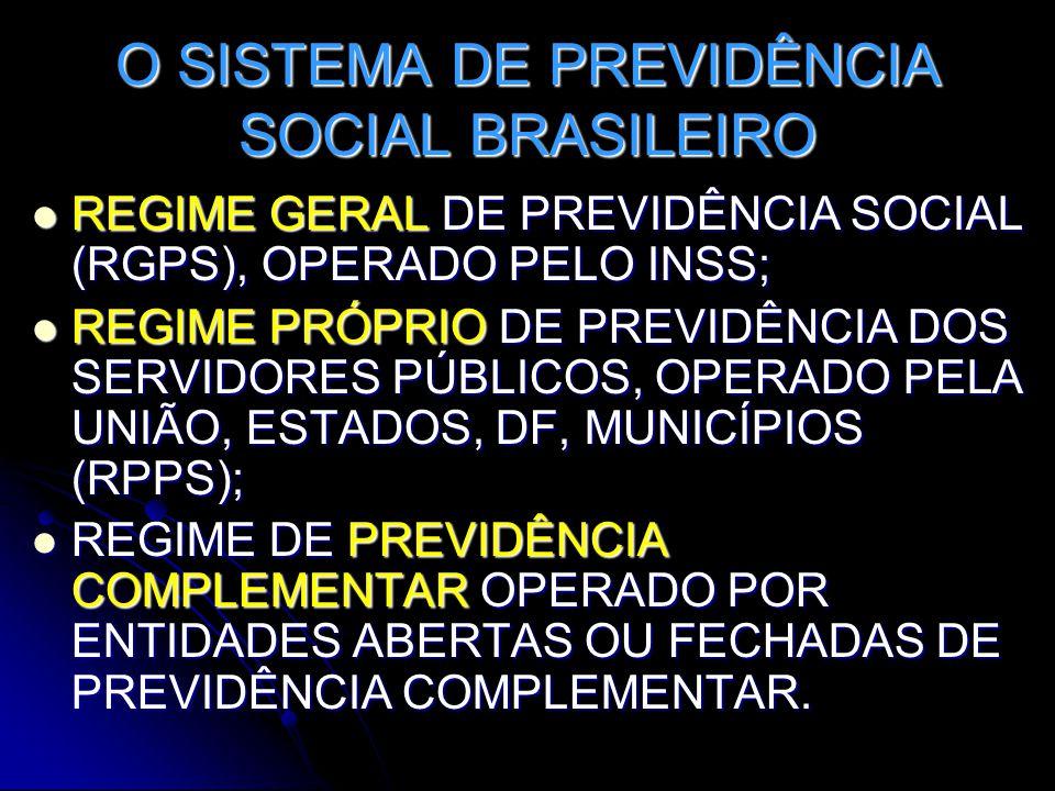 O SISTEMA DE PREVIDÊNCIA SOCIAL BRASILEIRO