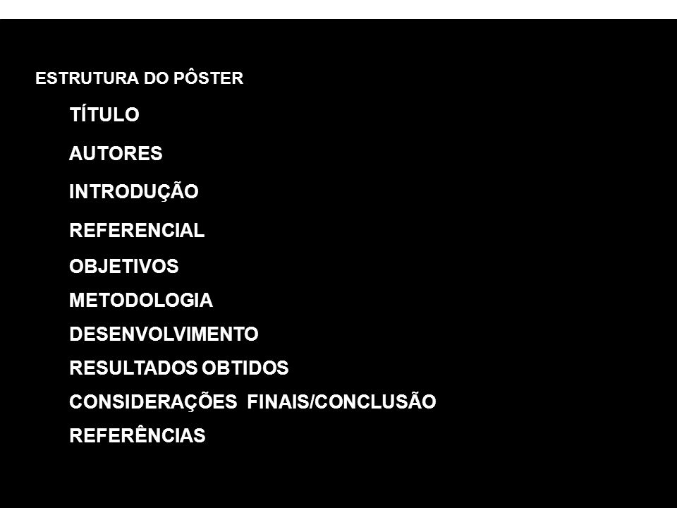 CONSIDERAÇÕES FINAIS/CONCLUSÃO REFERÊNCIAS