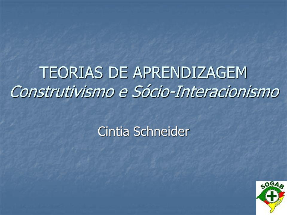 TEORIAS DE APRENDIZAGEM Construtivismo e Sócio-Interacionismo