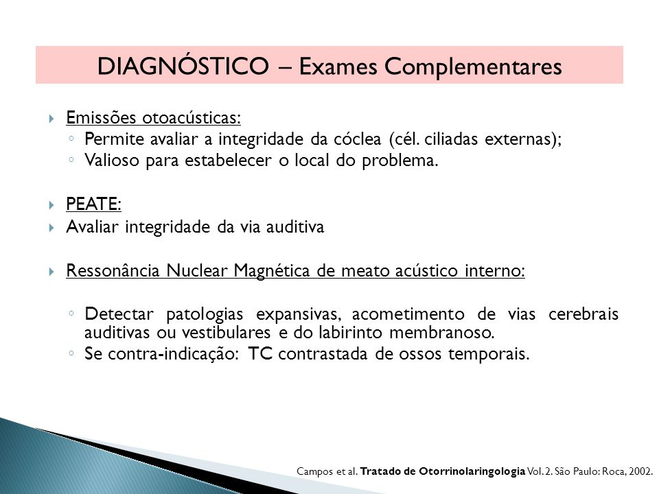 DIAGNÓSTICO – Exames Complementares