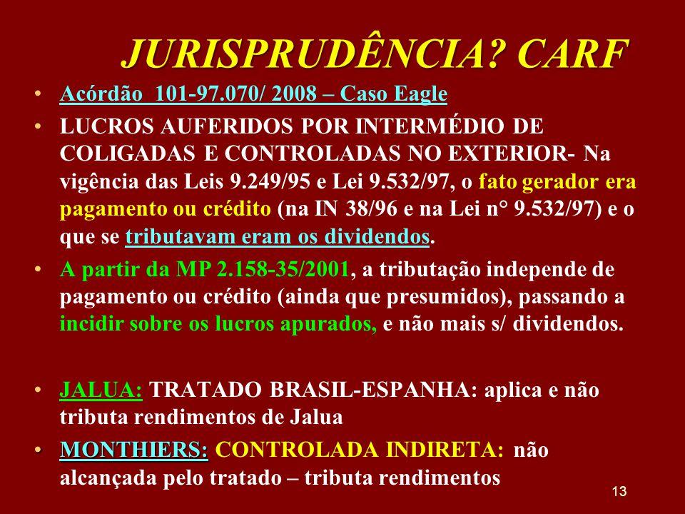 JURISPRUDÊNCIA CARF Acórdão 101-97.070/ 2008 – Caso Eagle