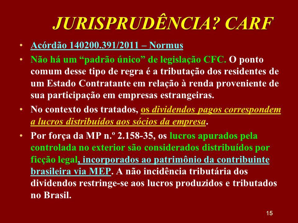 JURISPRUDÊNCIA CARF Acórdão 140200.391/2011 – Normus