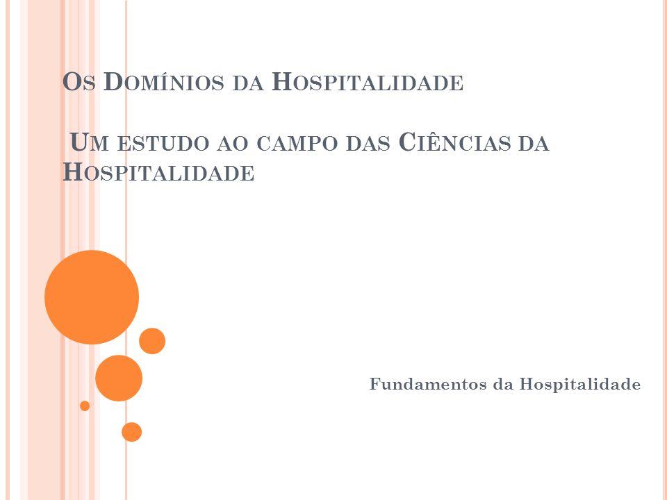 Fundamentos da Hospitalidade