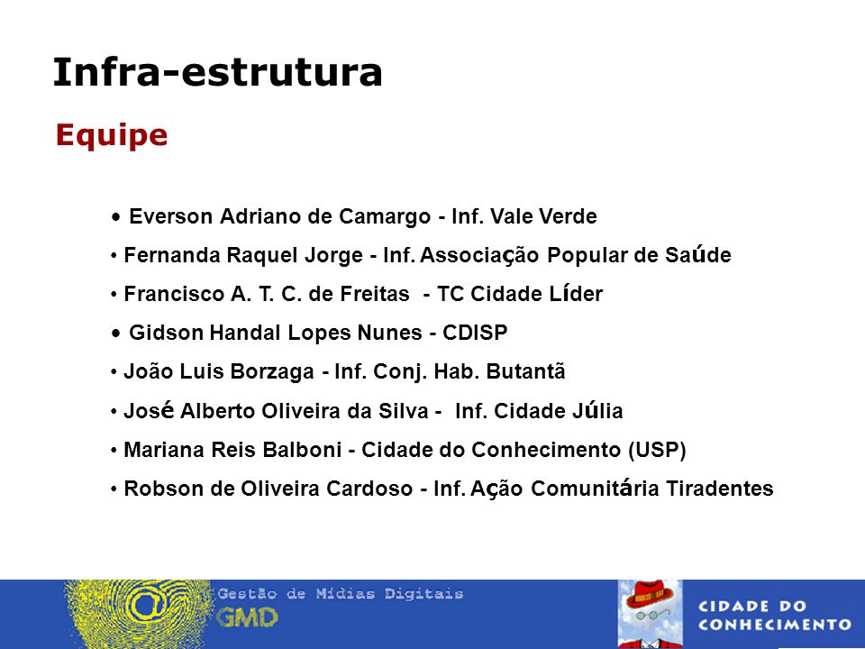 Equipe Everson Adriano de Camargo - Inf. Vale Verde
