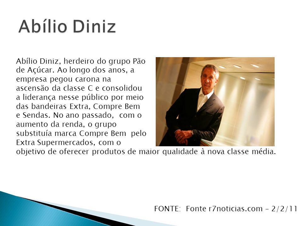 Abílio Diniz Abílio Diniz, herdeiro do grupo Pão