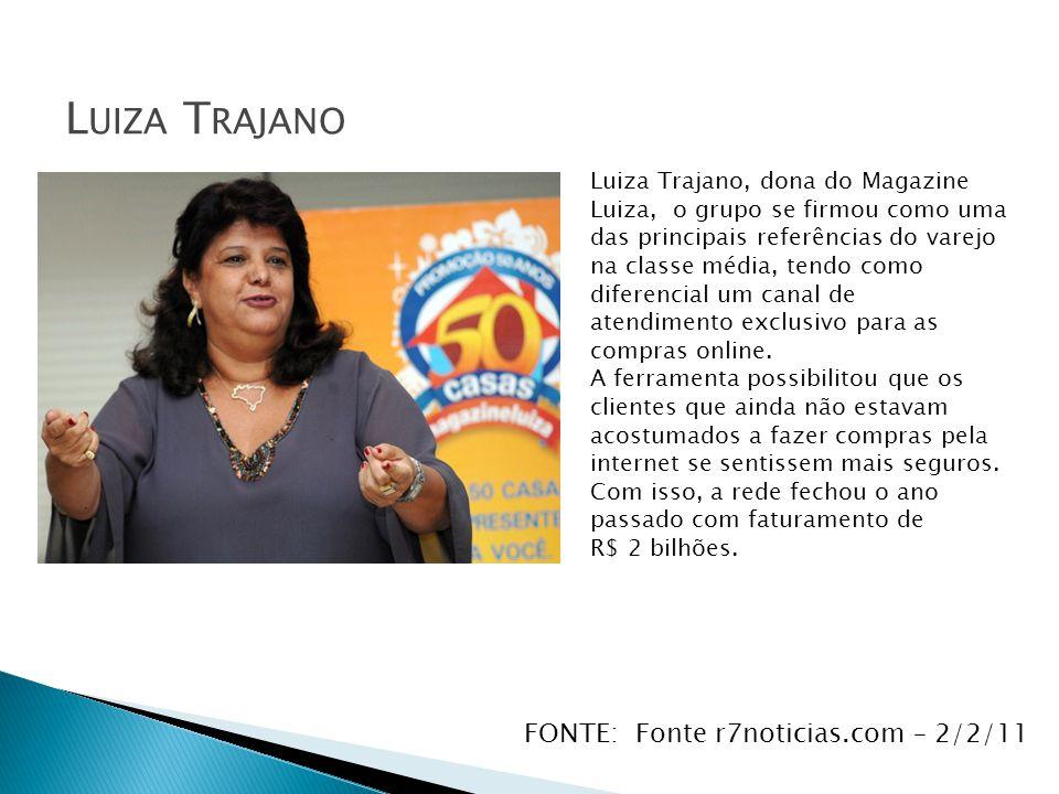 Luiza Trajano FONTE: Fonte r7noticias.com – 2/2/11