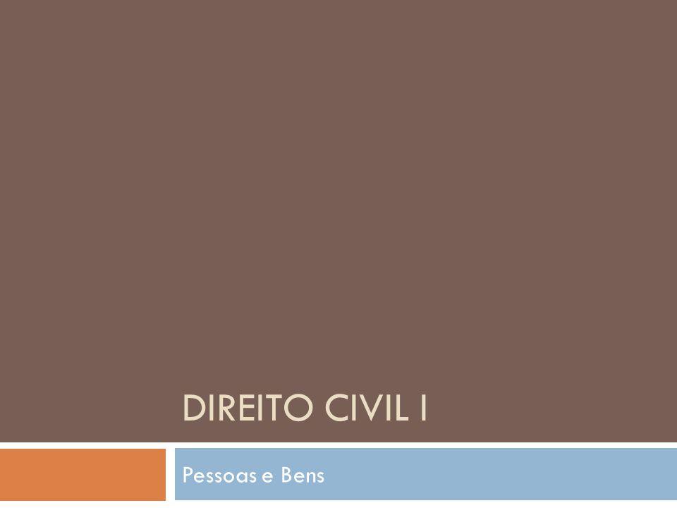 Direito civil i Pessoas e Bens