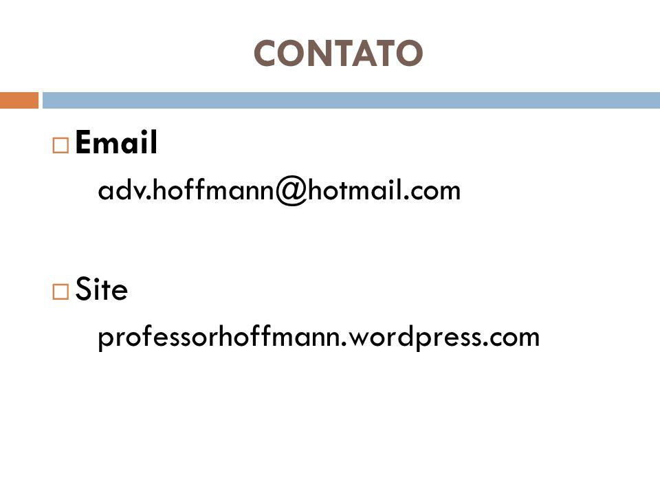 CONTATO Email Site adv.hoffmann@hotmail.com