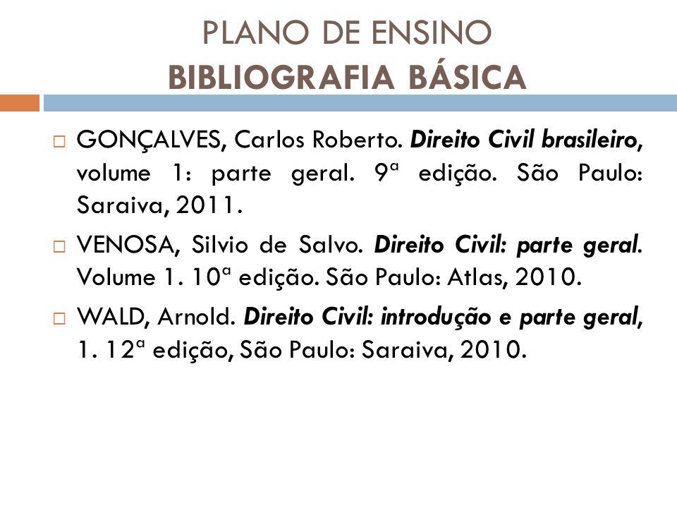 PLANO DE ENSINO BIBLIOGRAFIA BÁSICA