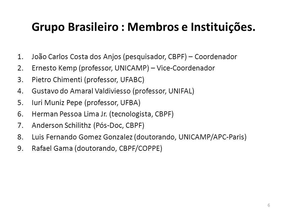 Grupo Brasileiro : Membros e Instituições.