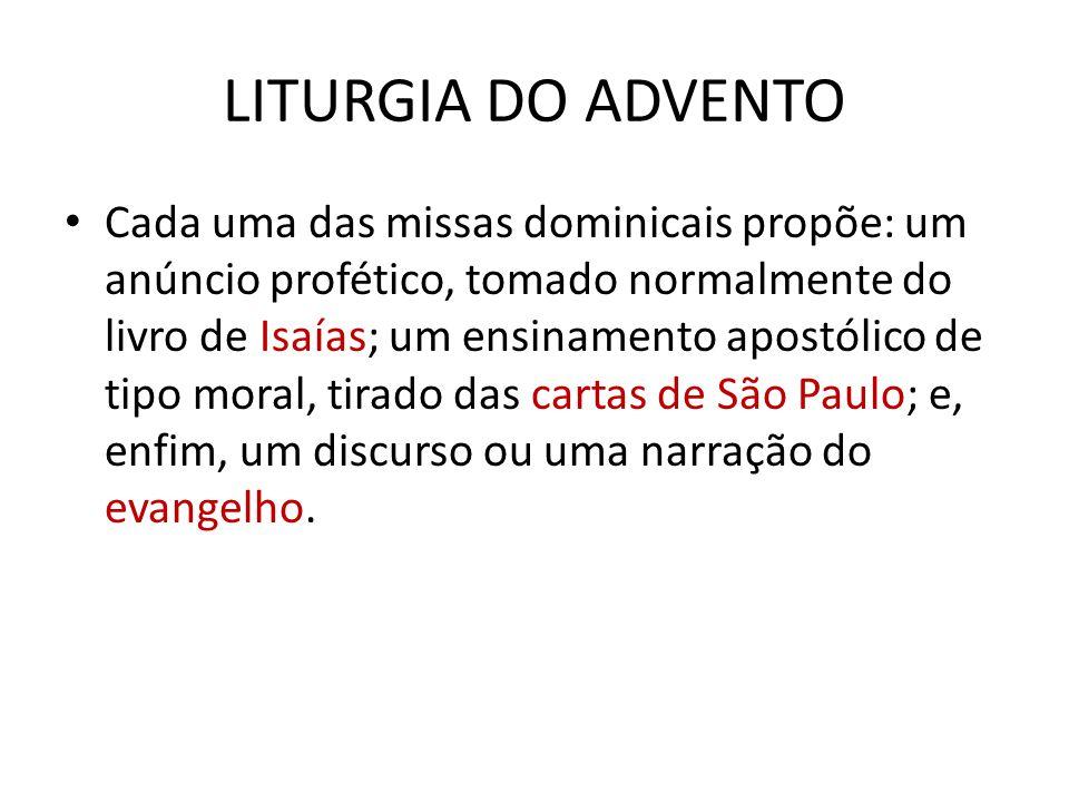 LITURGIA DO ADVENTO