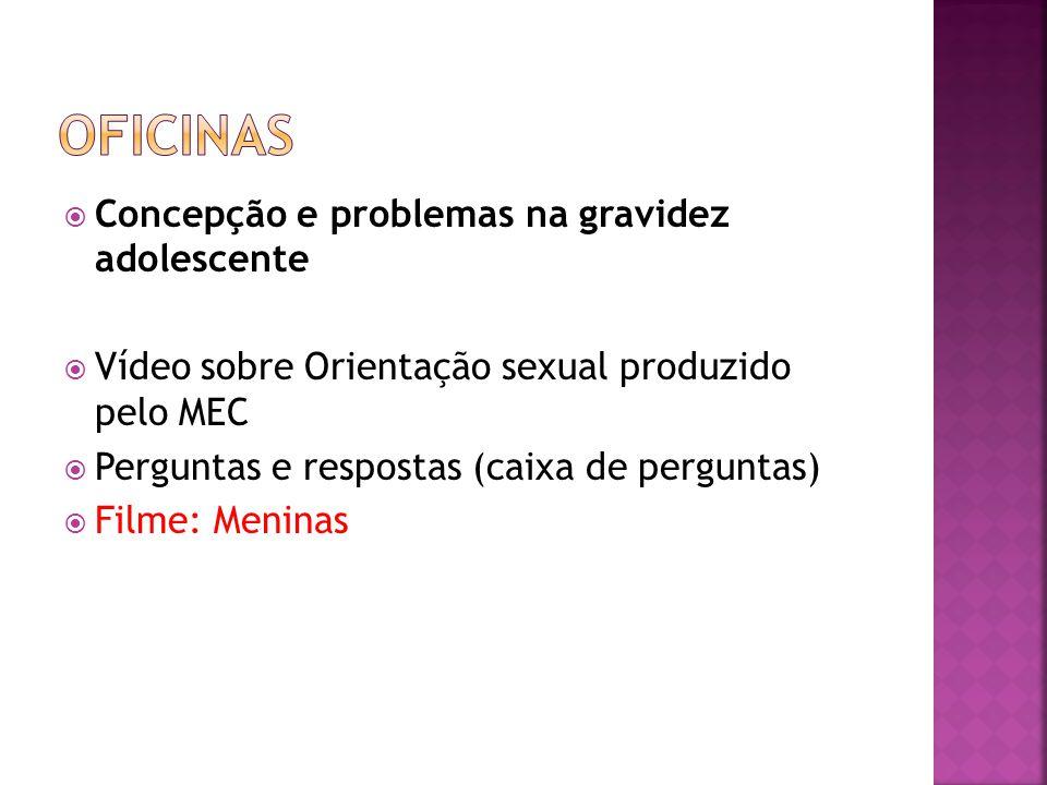 Oficinas Concepção e problemas na gravidez adolescente