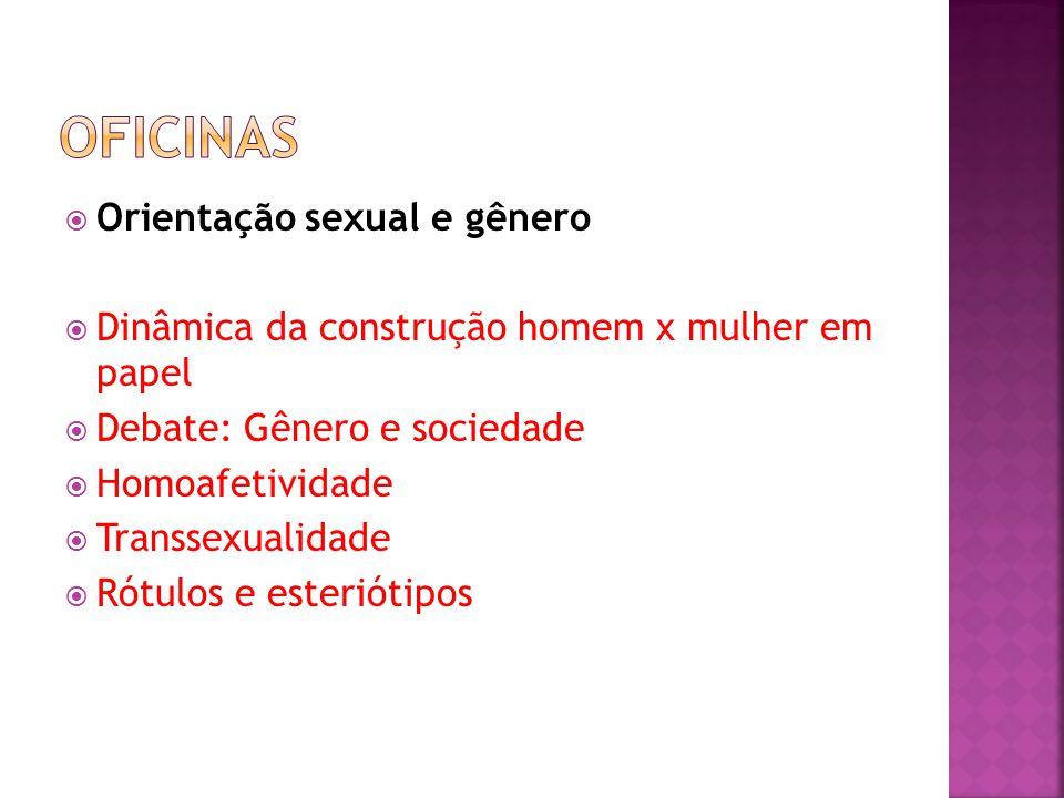 Oficinas Orientação sexual e gênero