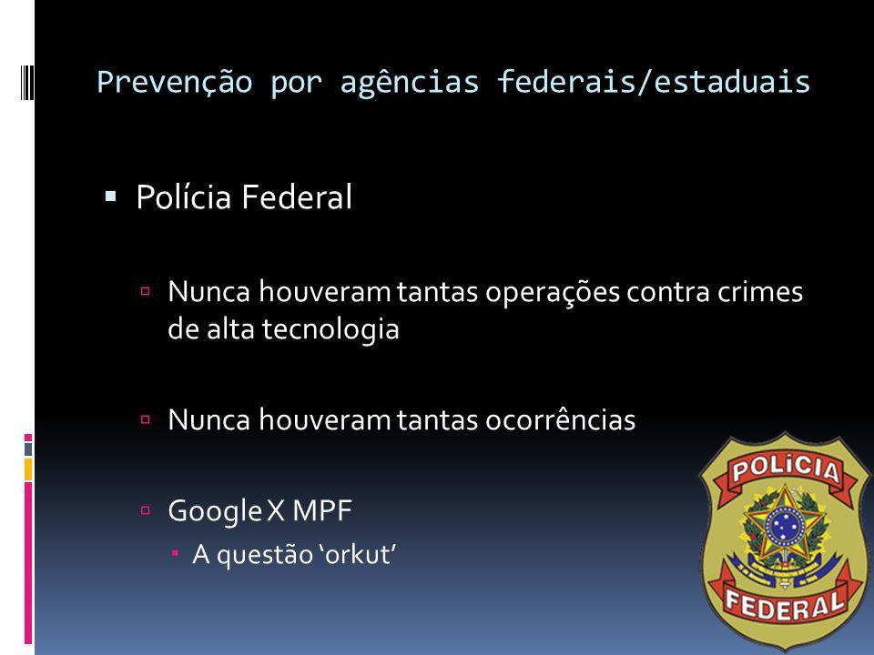 Prevenção por agências federais/estaduais