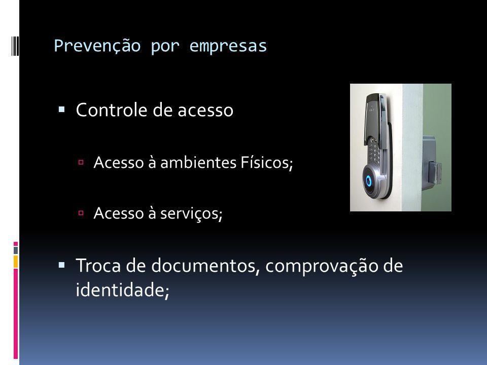 Prevenção por empresas