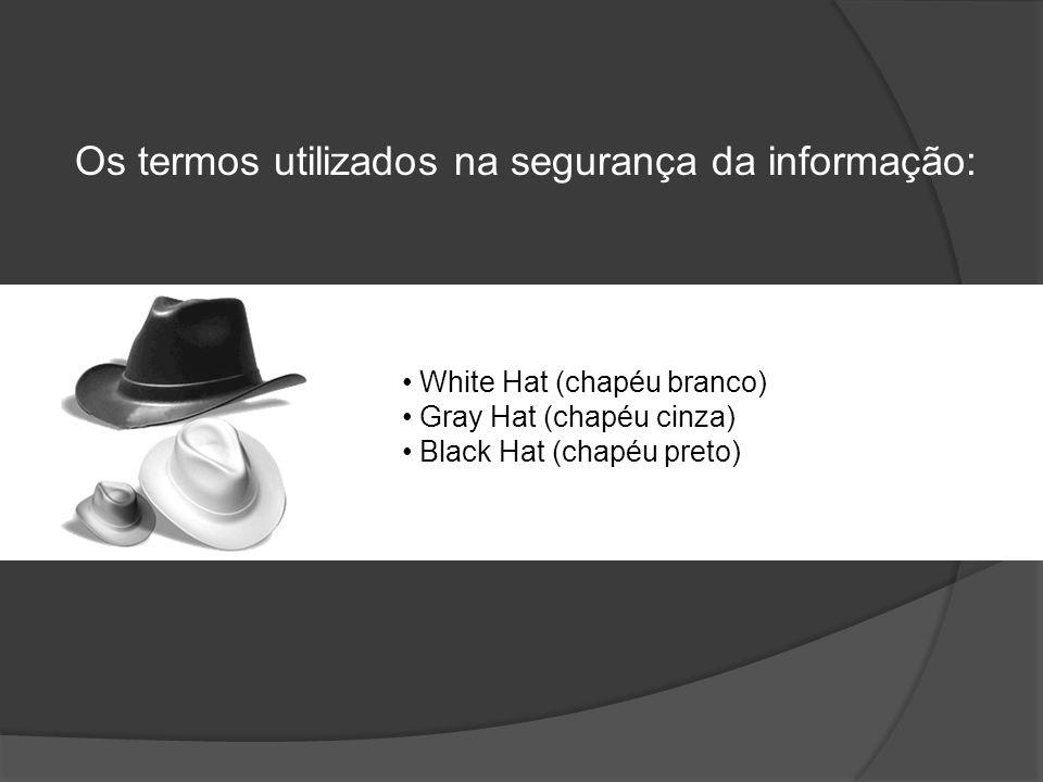 Os termos utilizados na segurança da informação: