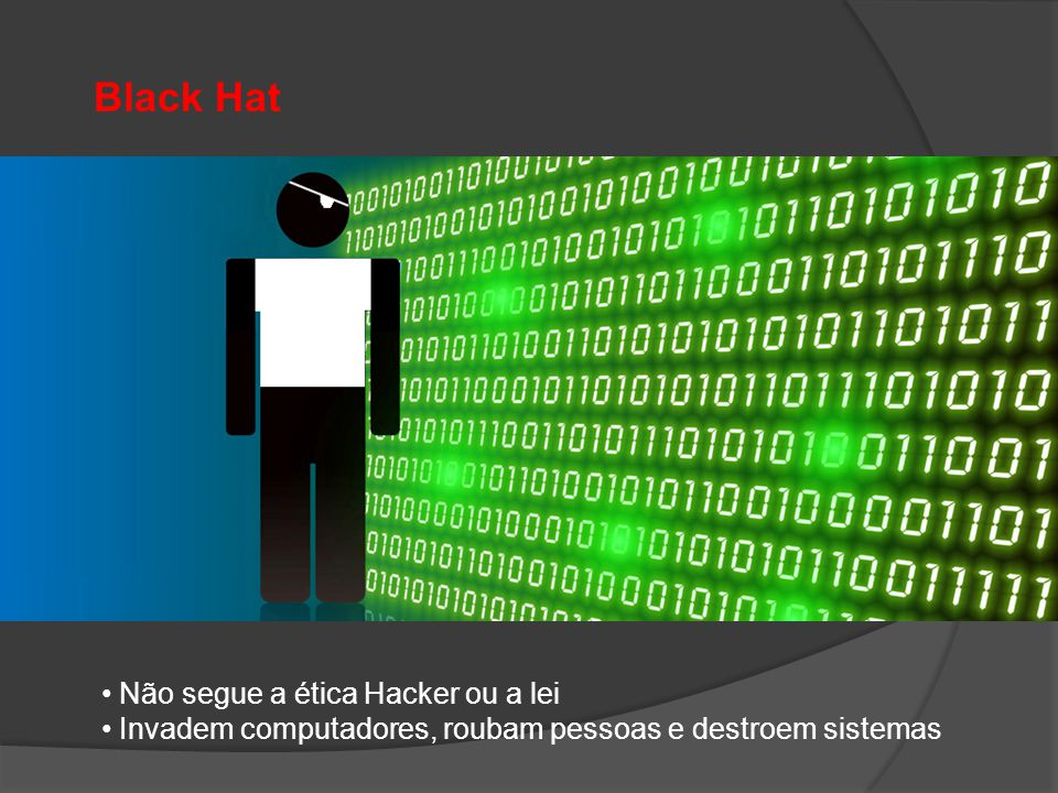 Black Hat Não segue a ética Hacker ou a lei