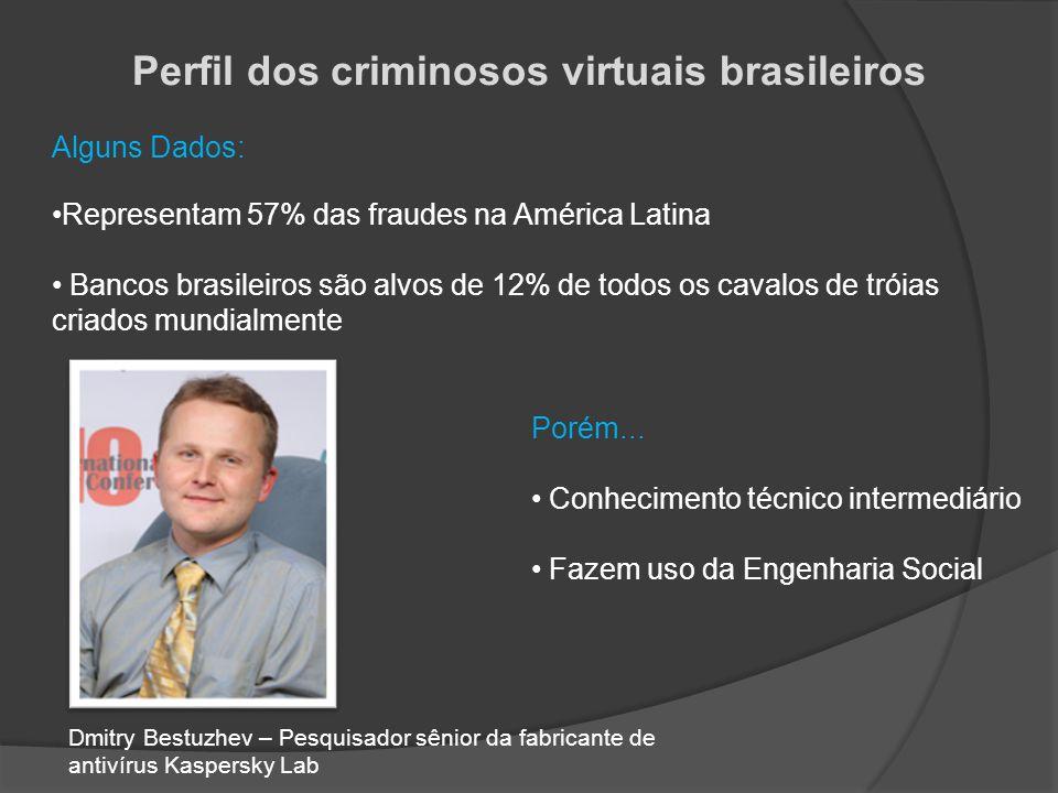 Perfil dos criminosos virtuais brasileiros