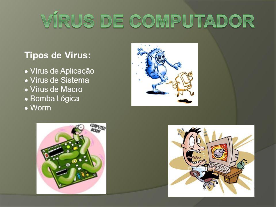 Vírus de Computador Tipos de Vírus:  Vírus de Aplicação