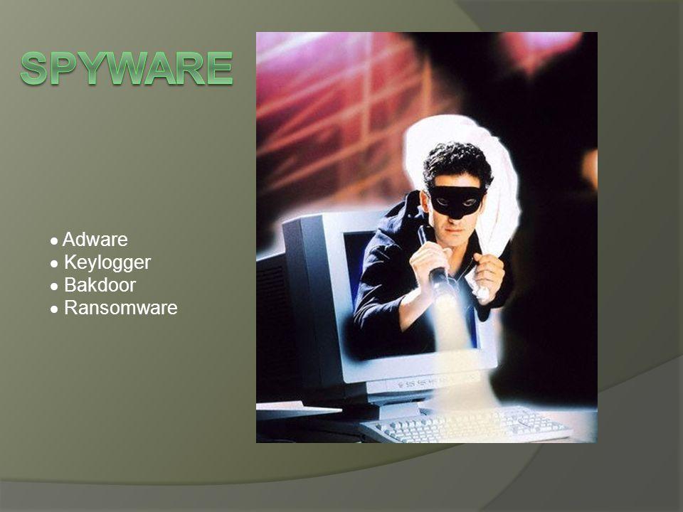 Spyware  Adware  Keylogger  Bakdoor  Ransomware