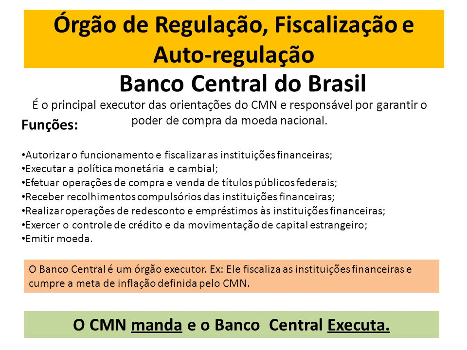 Órgão de Regulação, Fiscalização e Auto-regulação