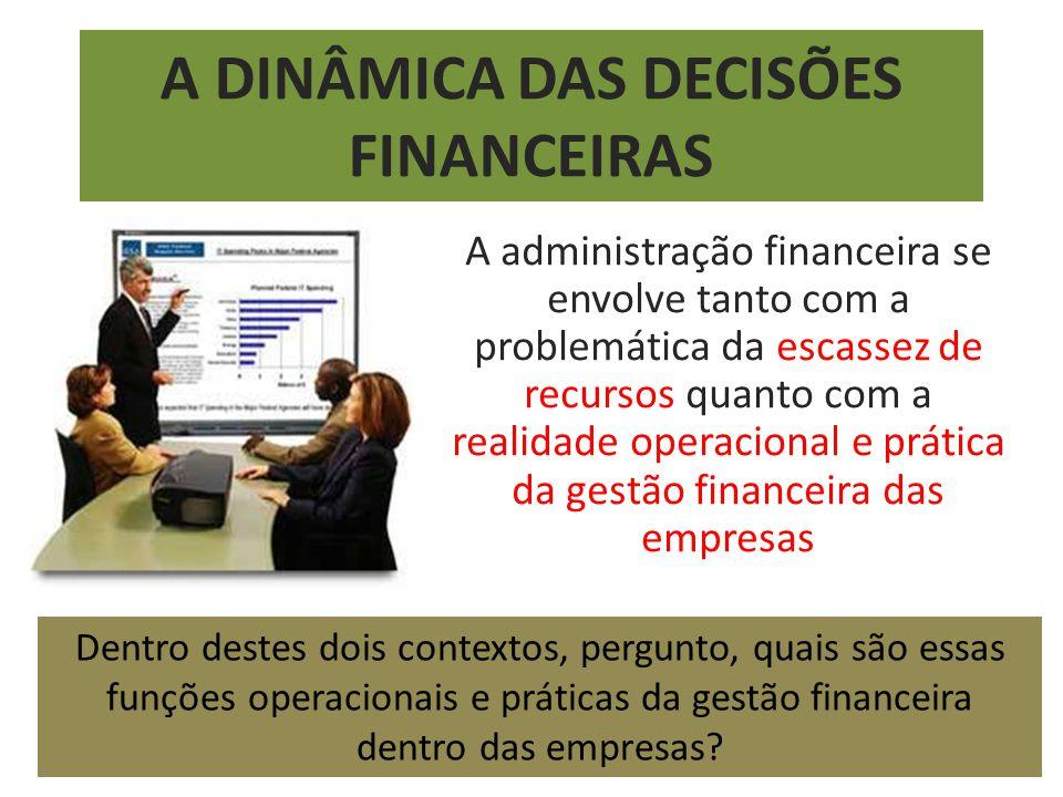 A DINÂMICA DAS DECISÕES FINANCEIRAS