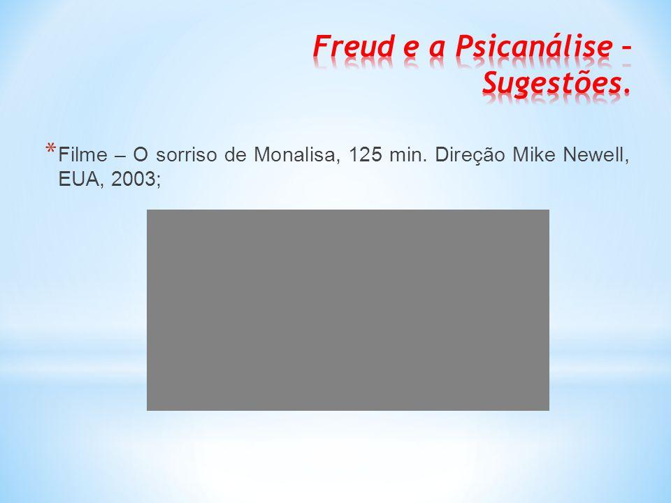 Freud e a Psicanálise – Sugestões.