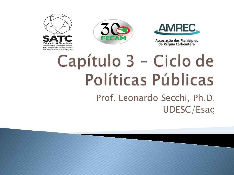 Capítulo 3 – Ciclo de Políticas Públicas