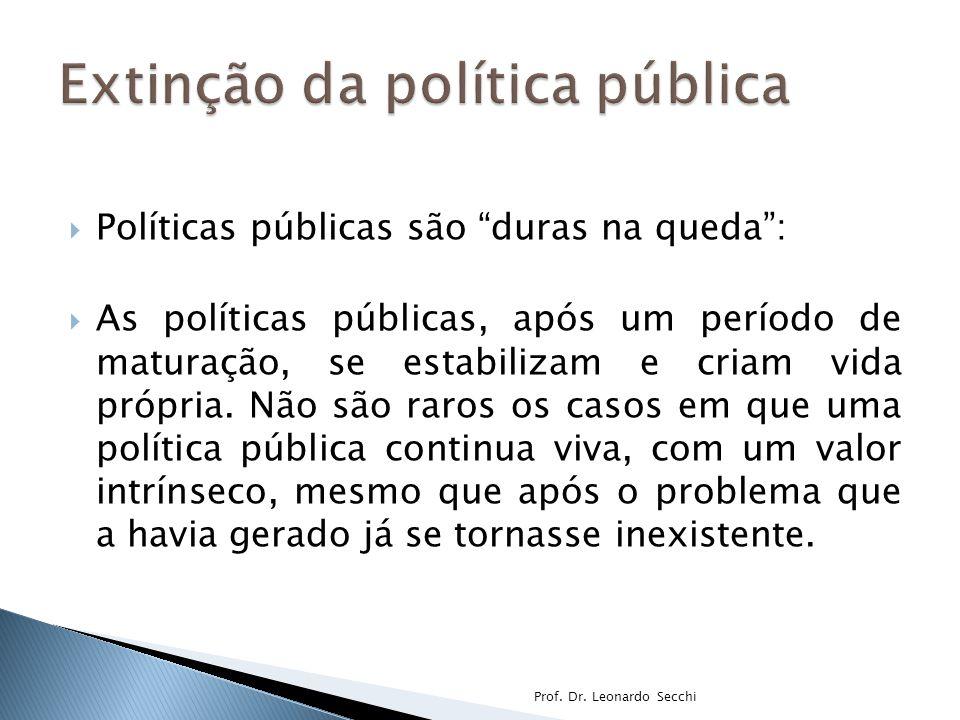 Extinção da política pública
