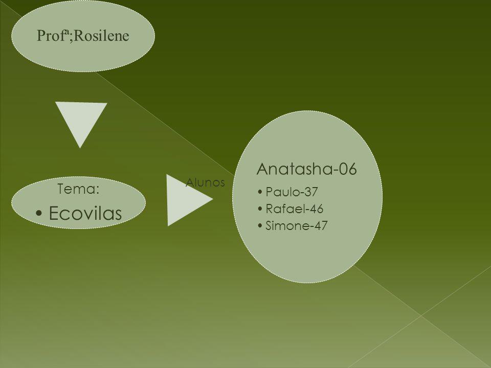 Ecovilas Tema: Alunos Profª;Rosilene Anatasha-06 Paulo-37 Rafael-46