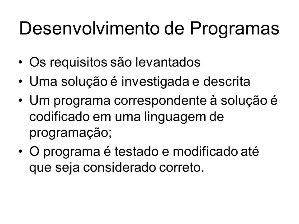 Desenvolvimento de Programas