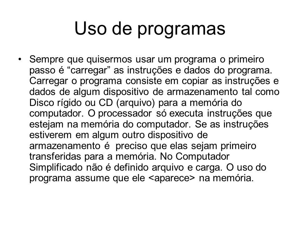 Uso de programas