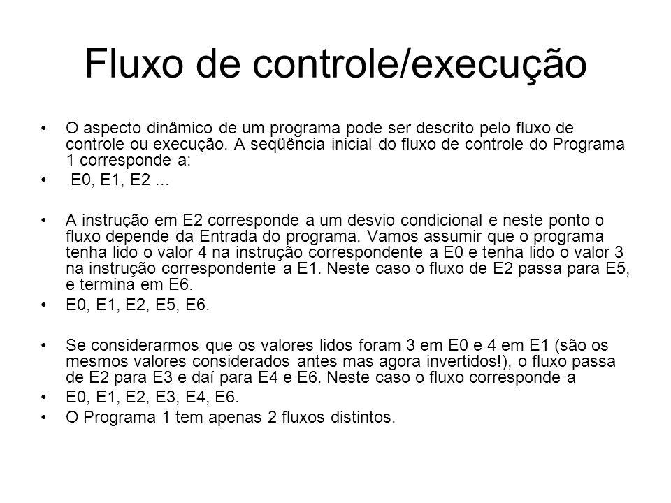 Fluxo de controle/execução