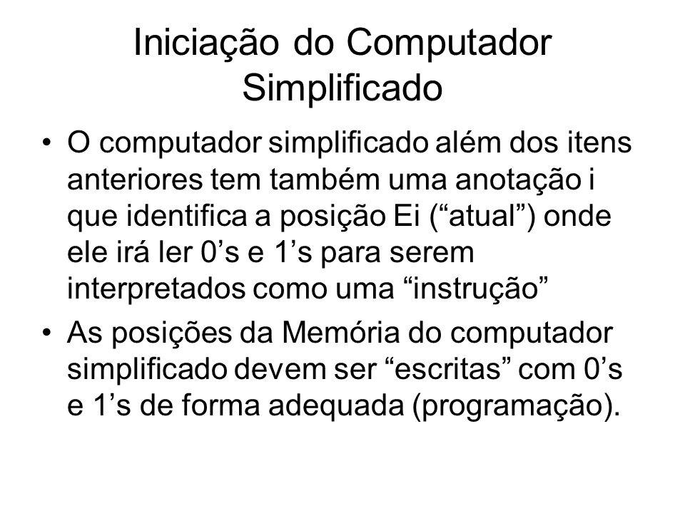Iniciação do Computador Simplificado