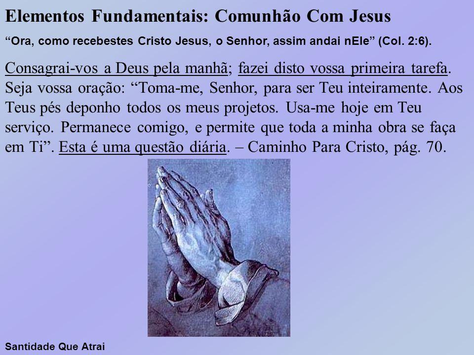 Elementos Fundamentais: Comunhão Com Jesus