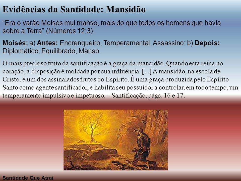 Evidências da Santidade: Mansidão