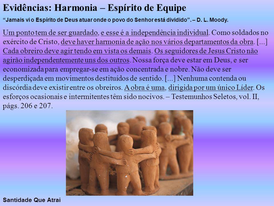 Evidências: Harmonia – Espírito de Equipe