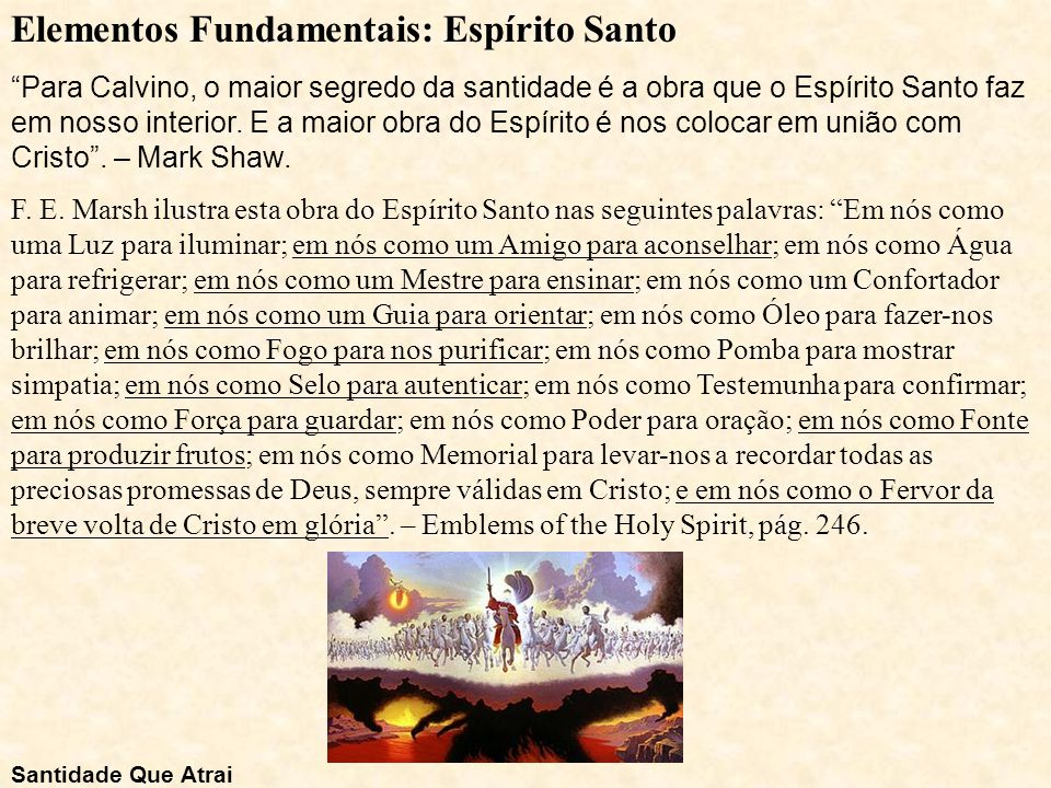 Elementos Fundamentais: Espírito Santo