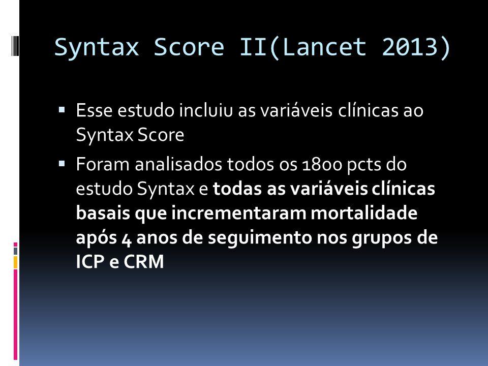 Syntax Score II(Lancet 2013)