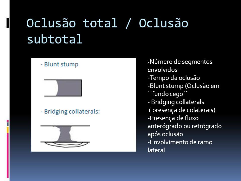 Oclusão total / Oclusão subtotal