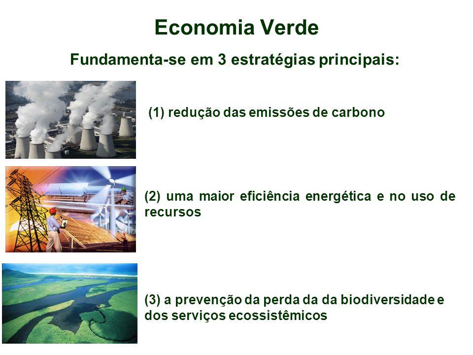Economia Verde Fundamenta-se em 3 estratégias principais: